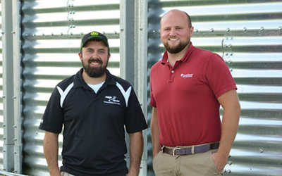 Young Beginning Small Farmer Zach Snider Eric Smith