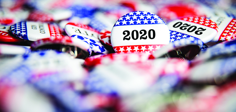 2020 Election buttons.