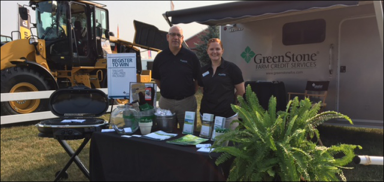 GreenStone team members working at the AgroExpo booth
