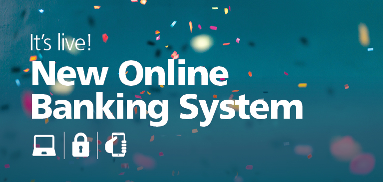 New Online Banking Confetti Celebration