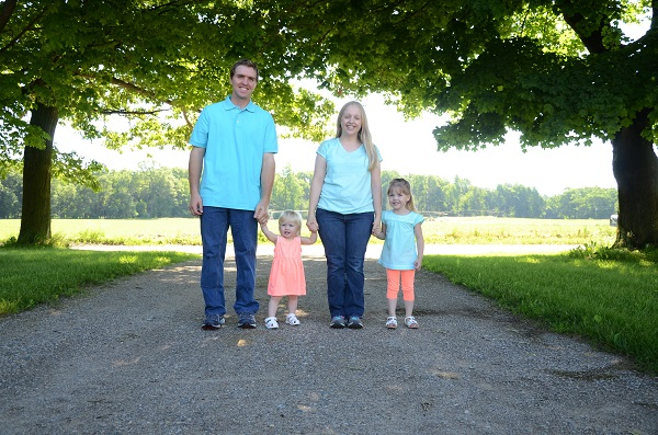 Sam Chapin, his wife, Micah and their two daughters, Melanie and Marian