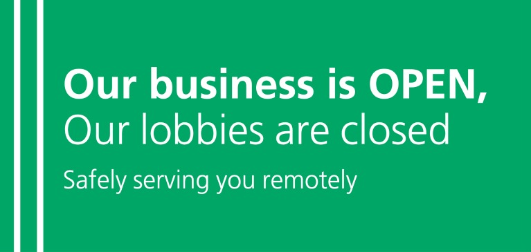 Business Open Lobbies Closed