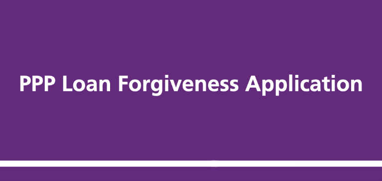 PPP Forgiveness Application Purple Box Text