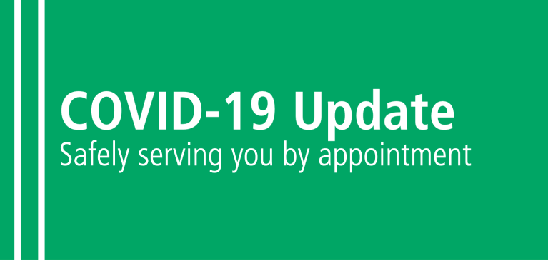 COVID Update  - WI Branches Open By Appointment