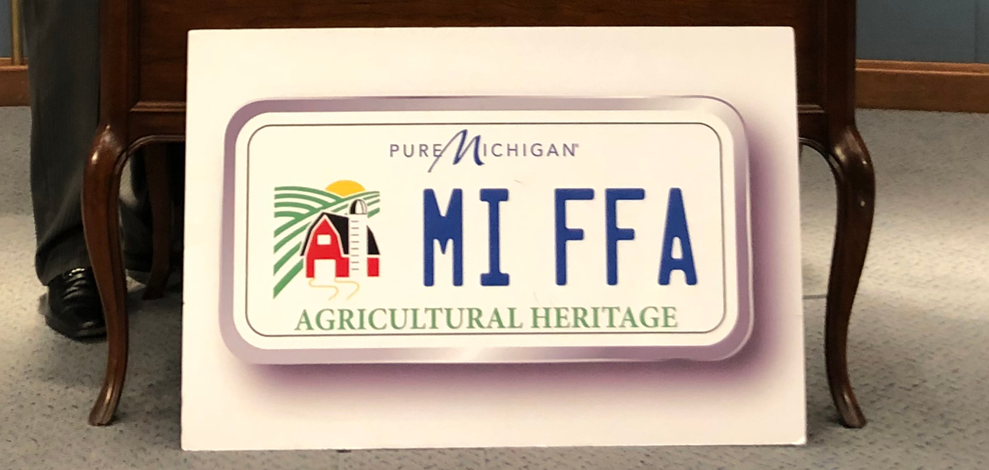 Ag Heritage License Plate Sign with words FFA on it