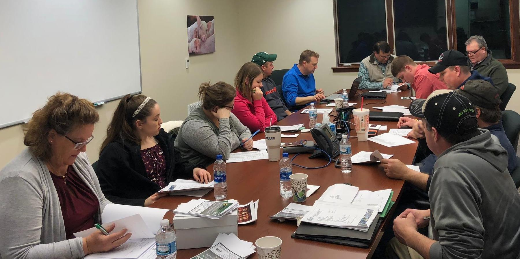 Gratiot County Fair meeting at Alma branch for the come grow with us campaign